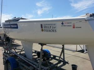 Présence d'un équipage issu du programme des bléssés militaires de GBR